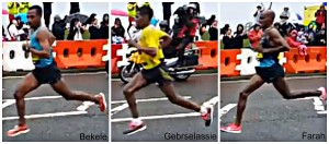 Bekele, Gebrselassie, Farah torso counterrotation comparison
